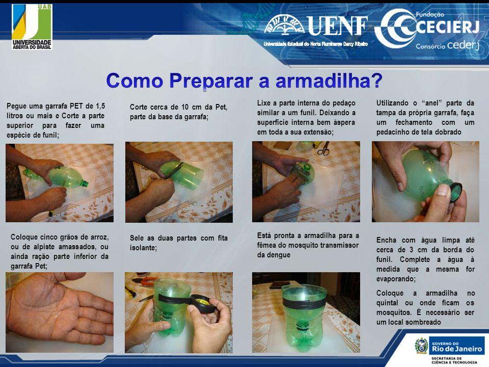 Pegue uma garrafa PET de 1,5 litros ou mais e Corte a parte superior para fazer uma espécie de funil; Corte cerca de 10 cm da Pet, parte da base da ga
