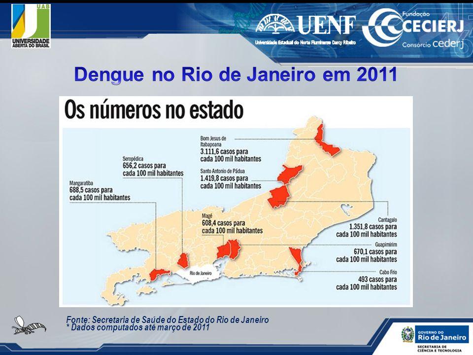 Fonte: Secretaria de Saúde do Estado do Rio de Janeiro * Dados computados até março de 2011