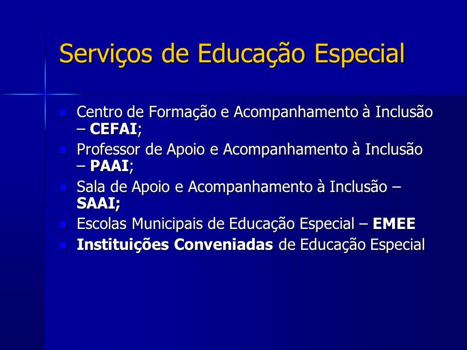 Serviços de Educação Especial Centro de Formação e Acompanhamento à Inclusão – CEFAI; Centro de Formação e Acompanhamento à Inclusão – CEFAI; Professo