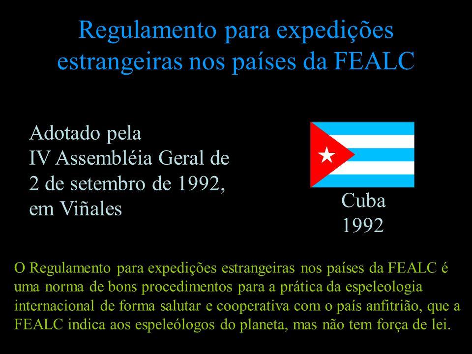 Regulamento para expedições estrangeiras nos países da FEALC Cuba 1992 O Regulamento para expedições estrangeiras nos países da FEALC é uma norma de b
