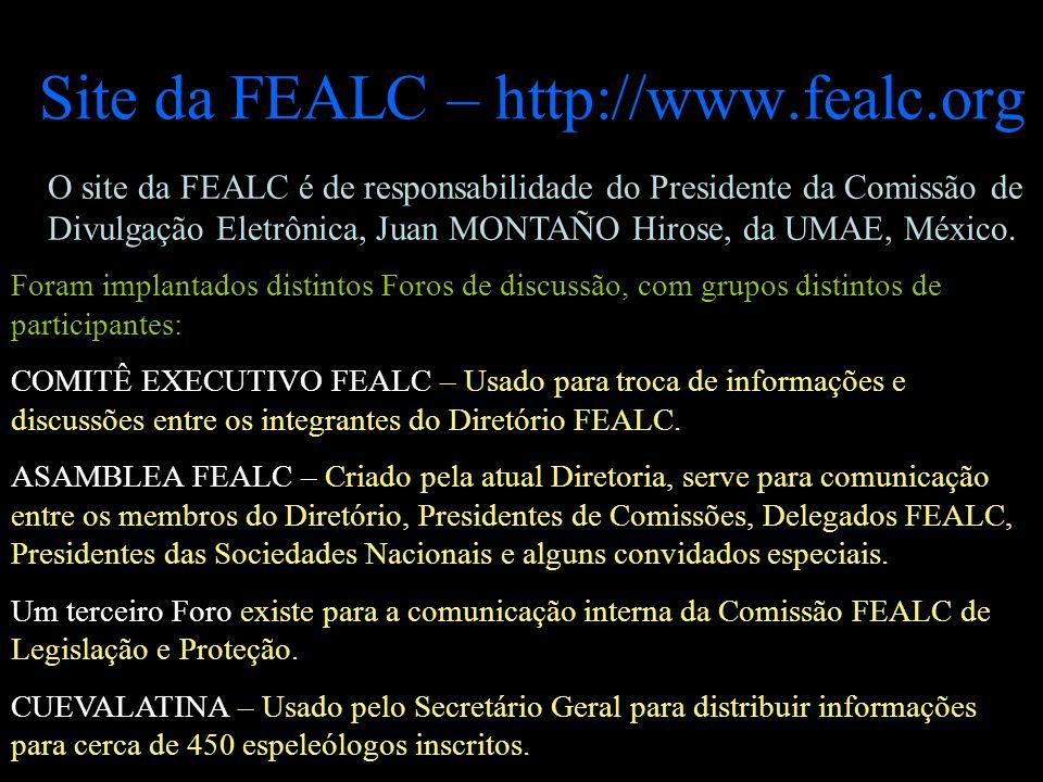 Site da FEALC – http://www.fealc.org O site da FEALC é de responsabilidade do Presidente da Comissão de Divulgação Eletrônica, Juan MONTAÑO Hirose, da