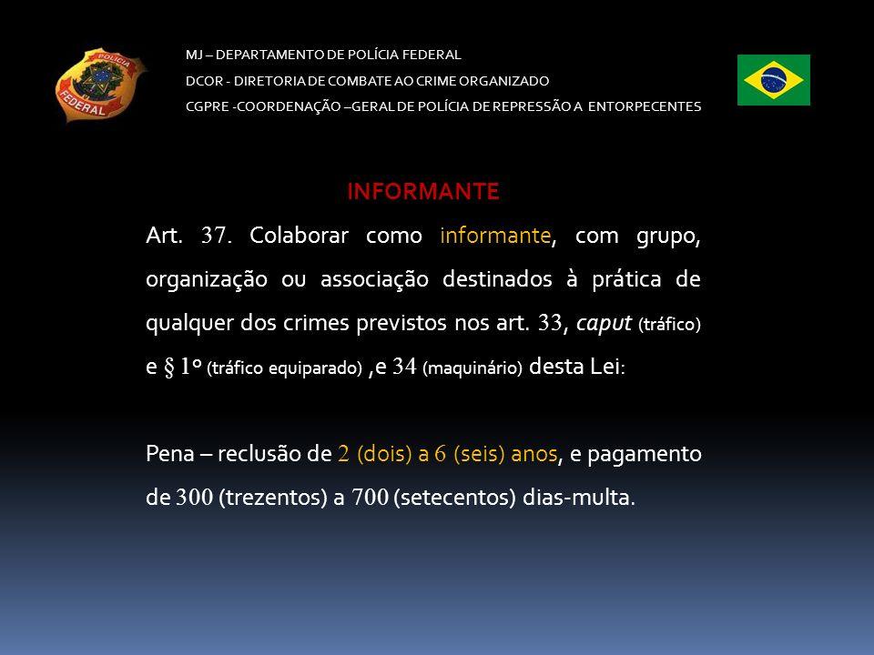 MJ – DEPARTAMENTO DE POLÍCIA FEDERAL DCOR - DIRETORIA DE COMBATE AO CRIME ORGANIZADO CGPRE -COORDENAÇÃO –GERAL DE POLÍCIA DE REPRESSÃO A ENTORPECENTES