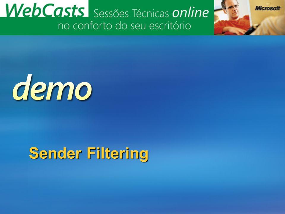 Sender Filtering