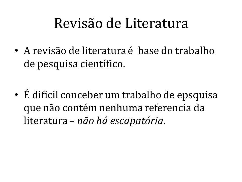 Avaliação da Revisão de Literatura Que tipo de sistema de referências usa.