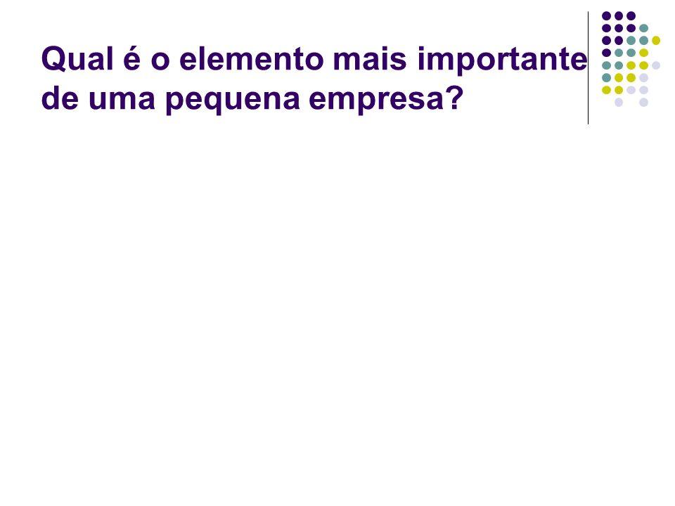 Qual é o elemento mais importante de uma pequena empresa?