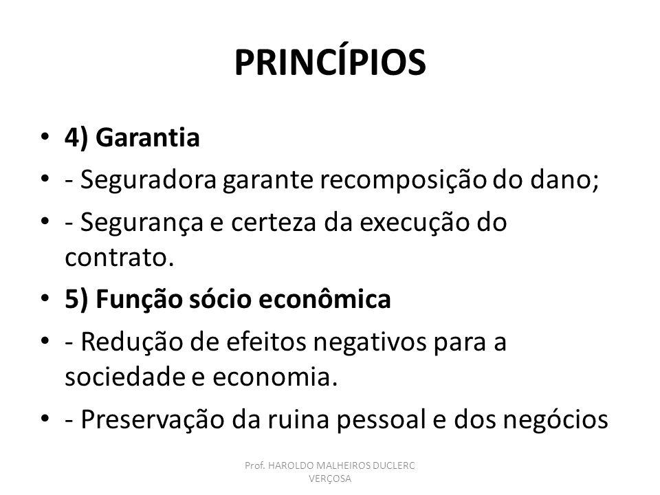 PRINCÍPIOS 6) Licitude do interesse segurado - Princípio comum às relações jurídicas; - Sanções civis e administrativas ao descumprimento.