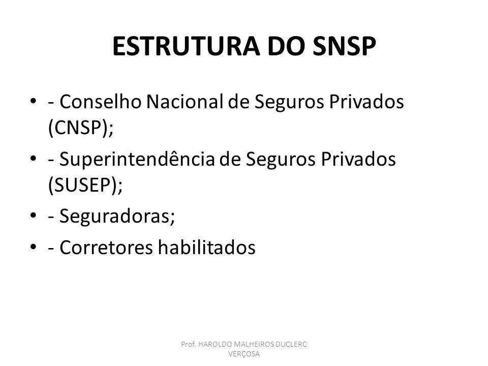 COMPETÊNCIA DO CNSP – Art.