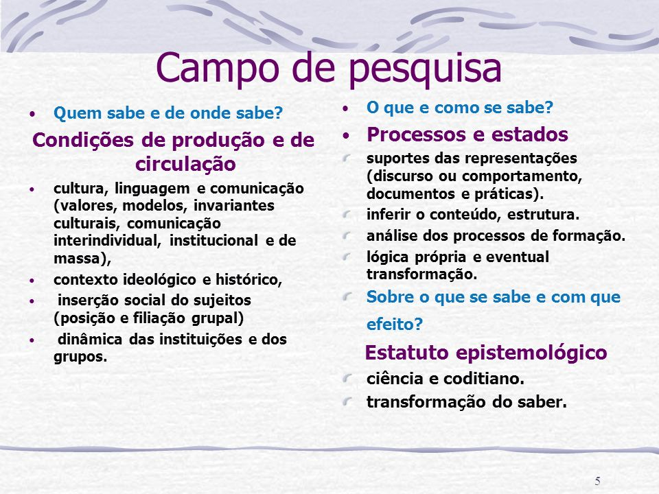 15 CARACTERÍSTICAS DO SISTEMA CENTRAL E DO PERIFÉRICO DE UMA REPRESENTAÇÃO