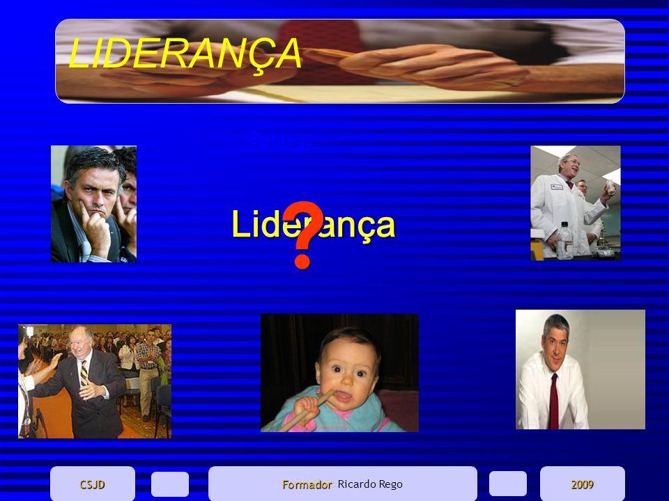 LIDERANÇA CSJD Formador Formador: Ricardo Rego2009 O comportamento encontrado nos dois papeis GestoresLíderes Rendem-se à situação.