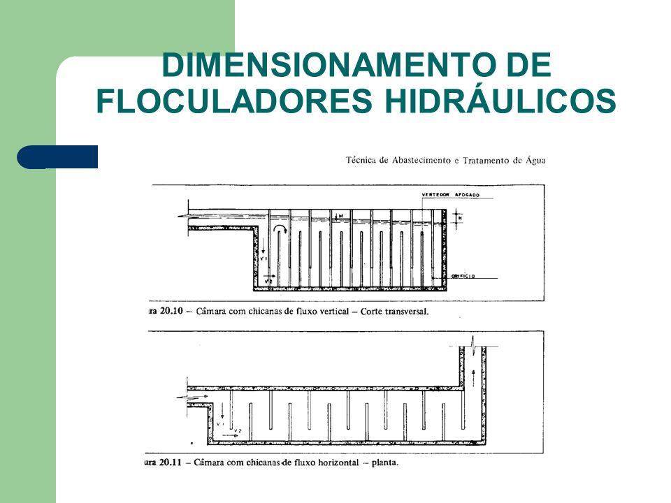 DIMENSIONAMENTO DE FLOCULADORES HIDRÁULICOS
