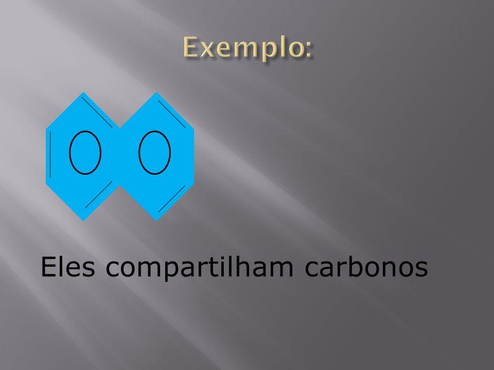 Eles compartilham carbonos