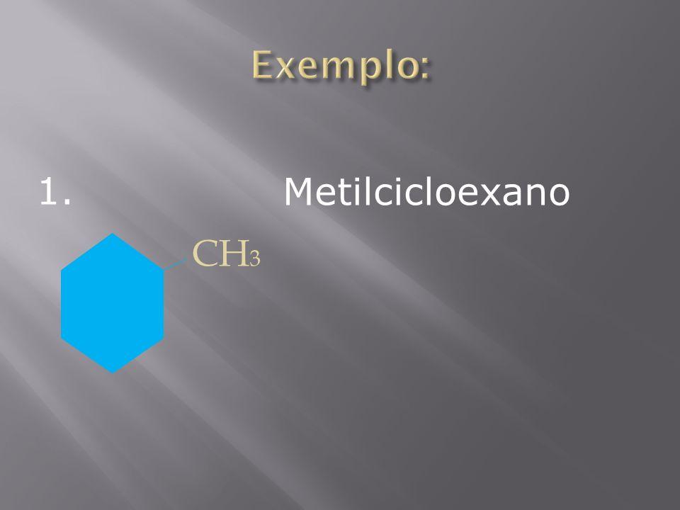 CH 3 Metilcicloexano 1.