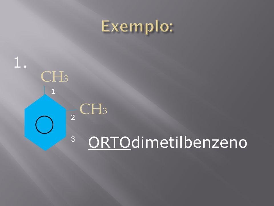 CH 3 3 2 1 ORTOdimetilbenzeno 1.