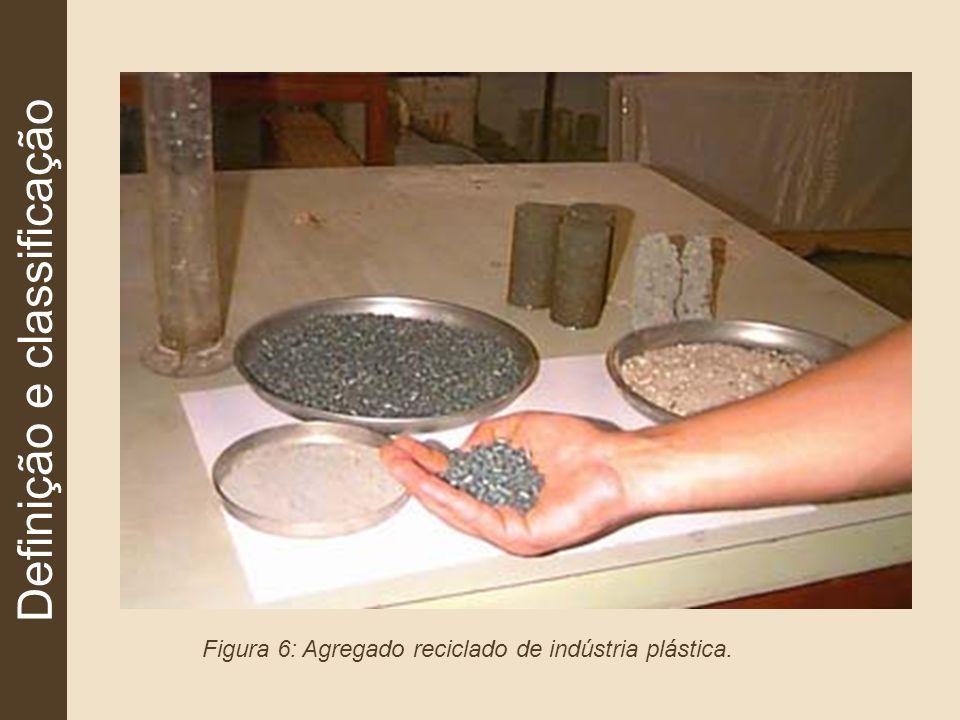 Definição e classificação Figura 6: Agregado reciclado de indústria plástica.