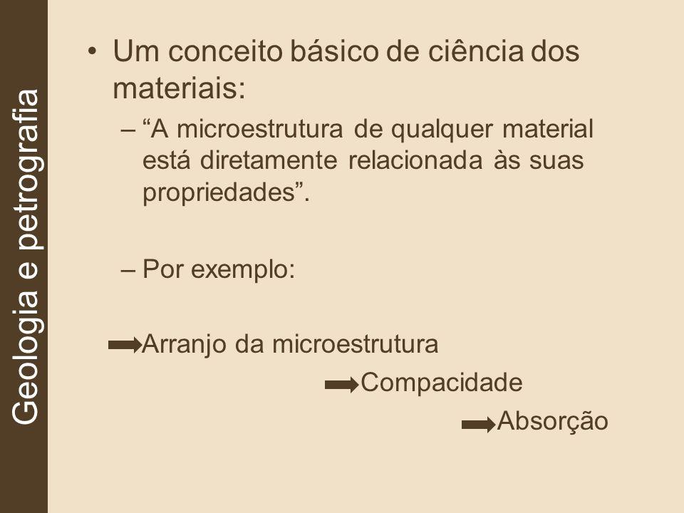 Rochas ígneas apresentam melhores condições devido sua composição mineralógica, textura e estrutura, pois tendem a produzir microestruturas mais densas e compactas.