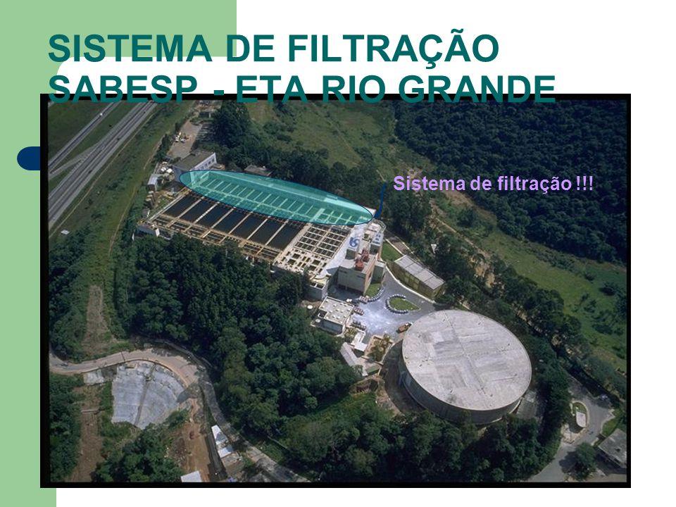 Sistema de filtração !!! SISTEMA DE FILTRAÇÃO SABESP - ETA RIO GRANDE