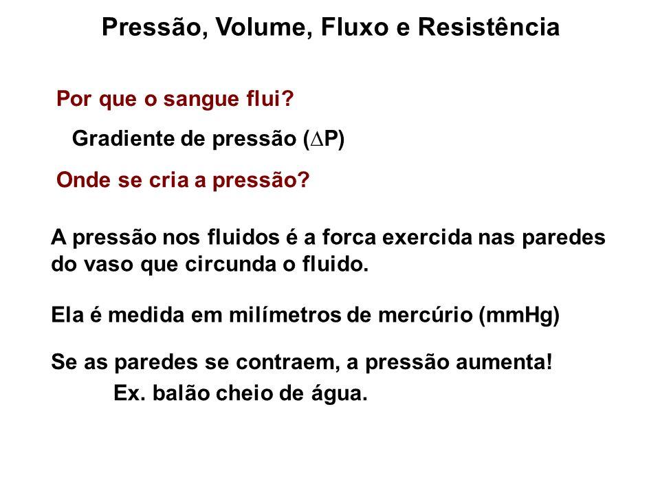 Pressão, Volume, Fluxo e Resistência Por que o sangue flui.