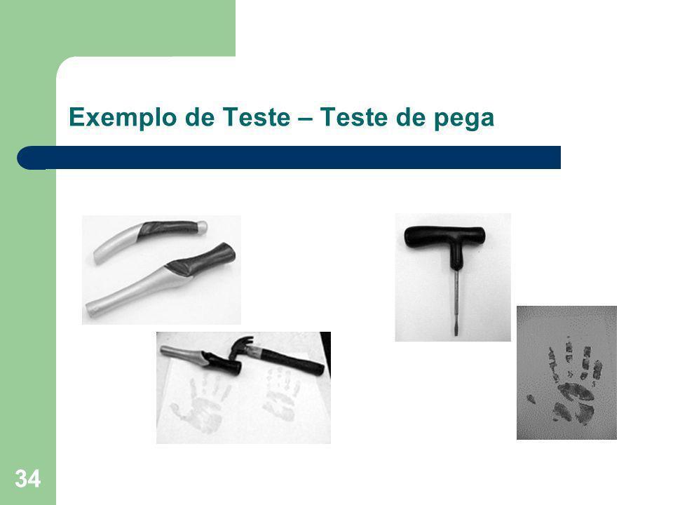 34 Exemplo de Teste – Teste de pega