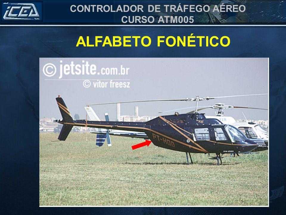 CONTROLADOR DE TRÁFEGO AÉREO CURSO ATM005 ALFABETO FONÉTICO