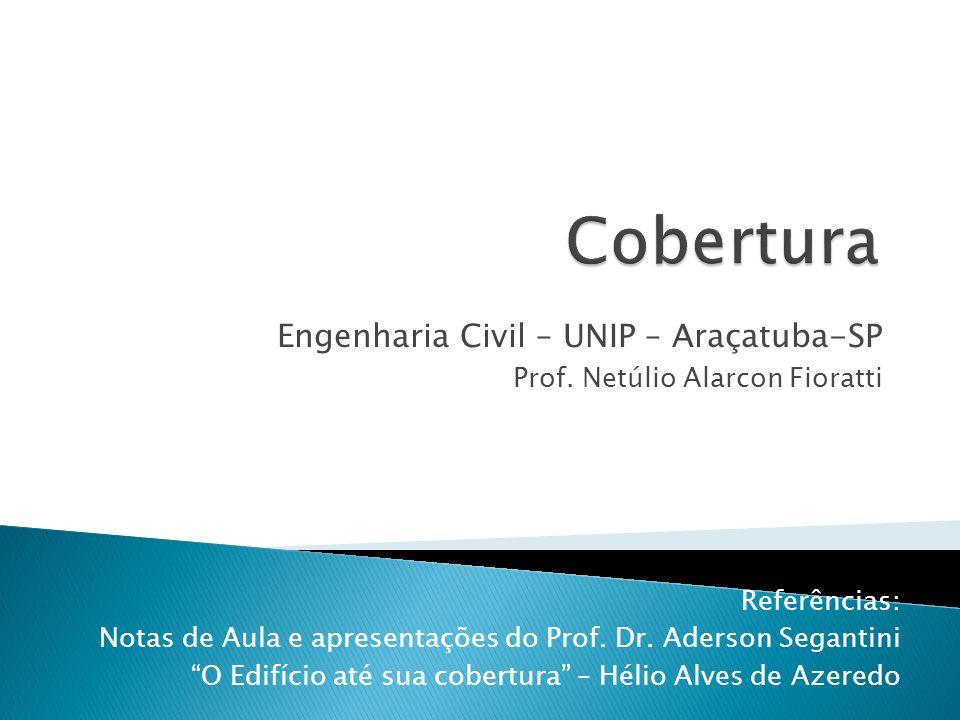 Engenharia Civil – UNIP – Araçatuba-SP Prof. Netúlio Alarcon Fioratti Referências: Notas de Aula e apresentações do Prof. Dr. Aderson Segantini O Edif
