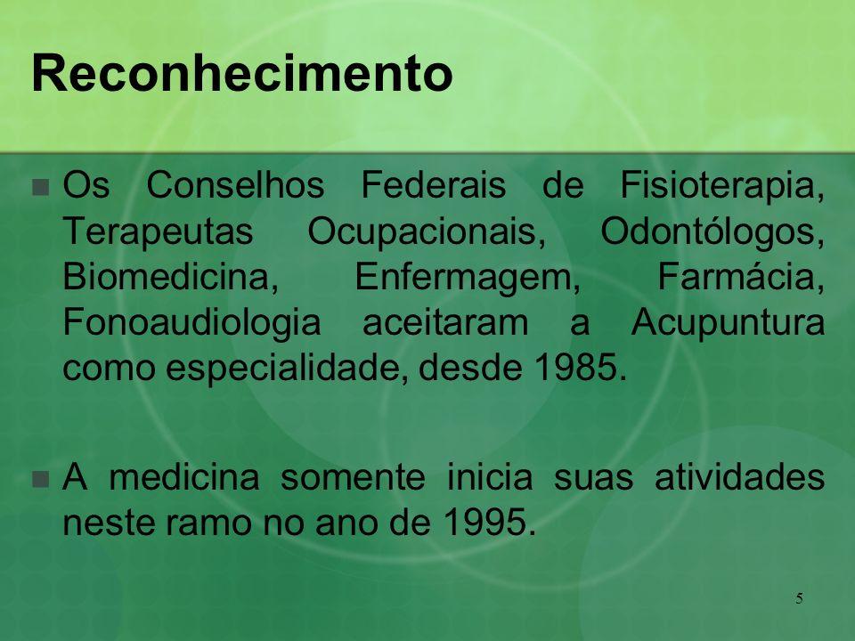 5 Reconhecimento Os Conselhos Federais de Fisioterapia, Terapeutas Ocupacionais, Odontólogos, Biomedicina, Enfermagem, Farmácia, Fonoaudiologia aceita