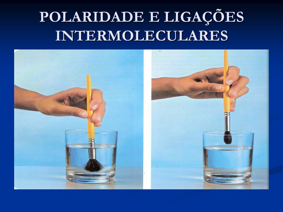 POLARIDADE E LIGAÇÕES INTERMOLECULARES