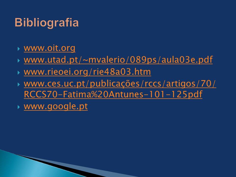 www.oit.org www.utad.pt/~mvalerio/089ps/aula03e.pdf www.rieoei.org/rie48a03.htm www.ces.uc.pt/publicações/rccs/artigos/70/ RCCS70-Fatima%20Antunes-101