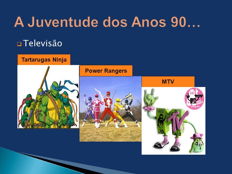 Televisão Tartarugas Ninja Power Rangers MTV