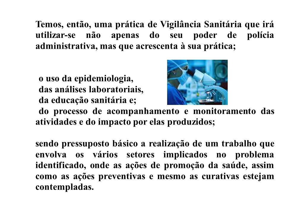Temos, então, uma prática de Vigilância Sanitária que irá utilizar-se não apenas do seu poder de polícia administrativa, mas que acrescenta à sua prát