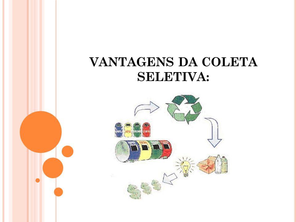 VANTAGENS DA COLETA SELETIVA: