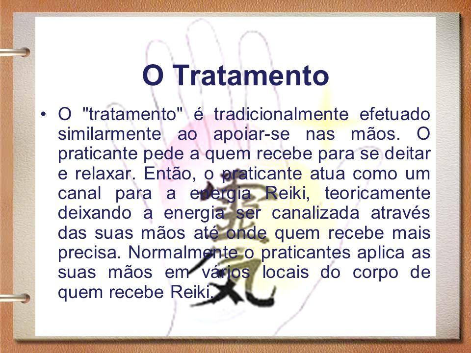 9 O Tratamento Alguns praticantes tocam no corpo ou mantêm as mãos próximas do local a ser tratado.