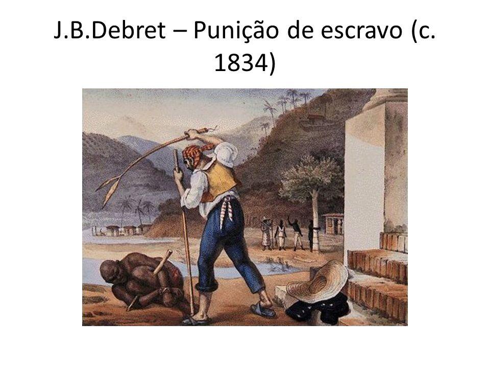 J.B.Debret – Punição de escravo (c. 1834)