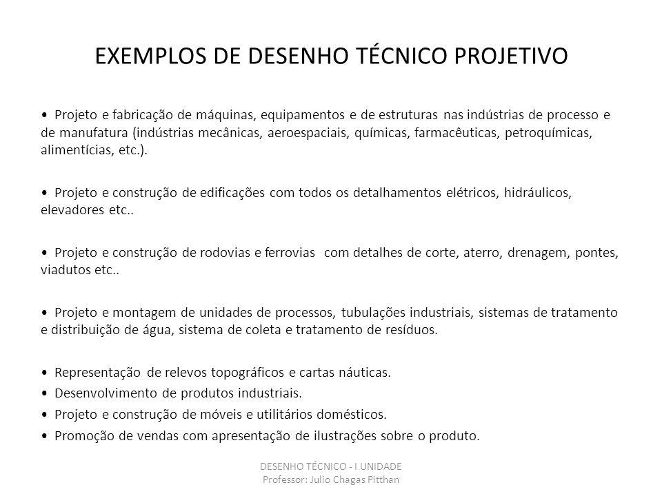 EXEMPLOS DE NORMAS DA ABNT NBR 8403 – APLICAÇÃO DE LINHAS EM DESENHOS – TIPOS DE LINHAS – LARGURAS DAS LINHAS NBR10067 – PRINCÍPIOS GERAIS DE REPRESENTAÇÃO EM DESENHO TÉCNICO NBR 8196 – DESENHO TÉCNICO – EMPREGO DE ESCALAS NBR 12298 – REPRESENTAÇÃO DE ÁREA DE CORTE POR MEIO DE HACHURAS EM DESENHO TÉCNICO NBR10126 – COTAGEM EM DESENHO TÉCNICO NBR8404 – INDICAÇÃO DO ESTADO DE SUPERFÍCIE EM DESENHOS TÉCNICOS NBR 6158 – SISTEMA DE TOLERÂNCIAS E AJUSTES NBR 8993 – REPRESENTAÇÃO CONVENCIONAL DE PARTES ROSCADAS EM DESENHO TÉCNICO DESENHO TÉCNICO - I UNIDADE Professor: Julio Chagas Pitthan