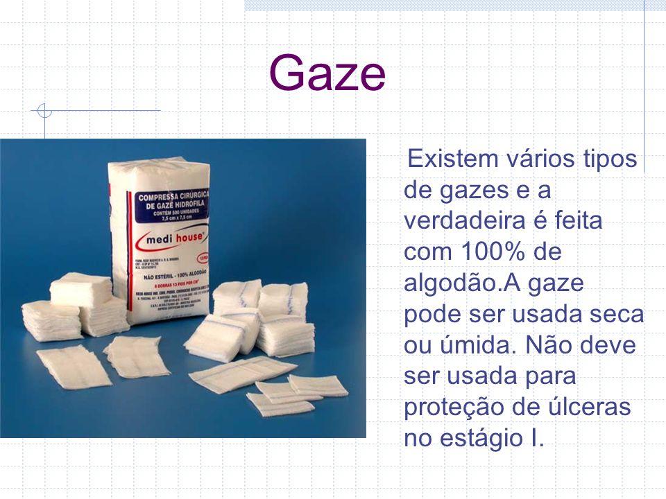Gaze Existem vários tipos de gazes e a verdadeira é feita com 100% de algodão.A gaze pode ser usada seca ou úmida. Não deve ser usada para proteção de