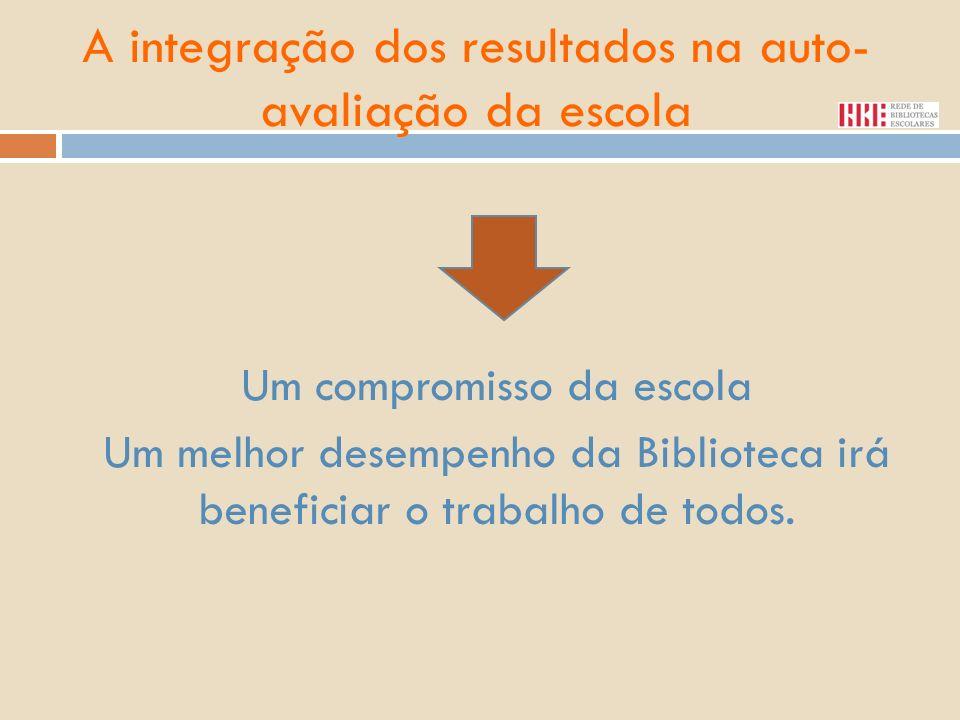 Um compromisso da escola Um melhor desempenho da Biblioteca irá beneficiar o trabalho de todos.