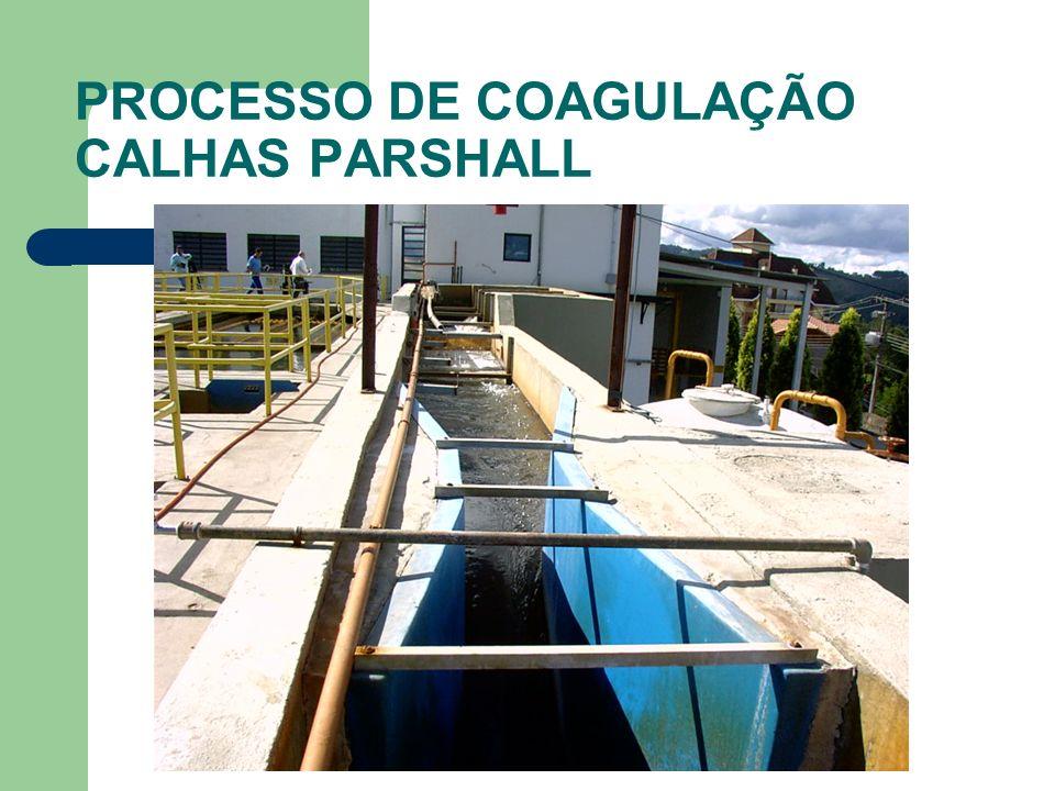 PROCESSO DE COAGULAÇÃO CALHAS PARSHALL