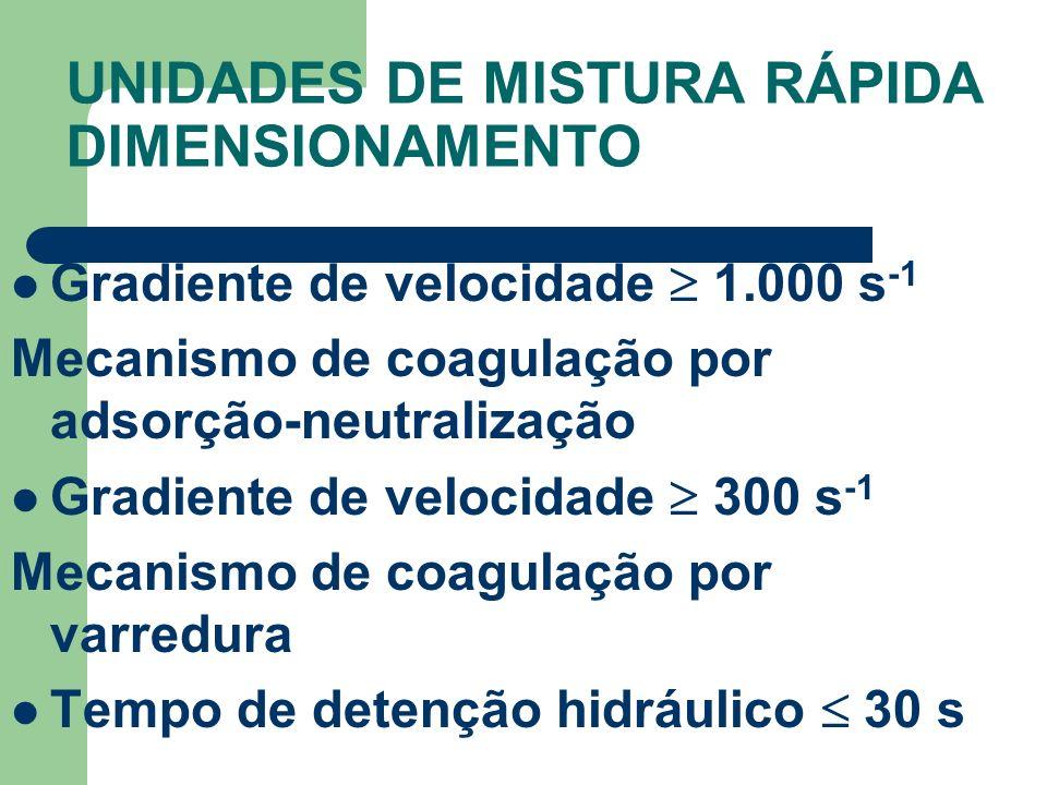 Gradiente de velocidade 1.000 s -1 Mecanismo de coagulação por adsorção-neutralização Gradiente de velocidade 300 s -1 Mecanismo de coagulação por var