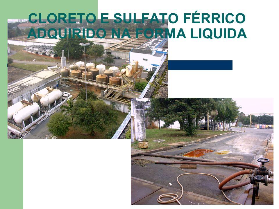 CLORETO E SULFATO FÉRRICO ADQUIRIDO NA FORMA LIQUIDA