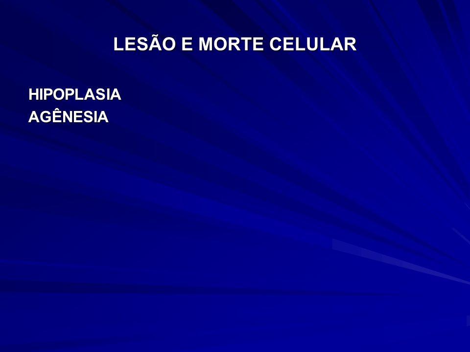 LESÃO E MORTE CELULAR HIPOPLASIAAGÊNESIA