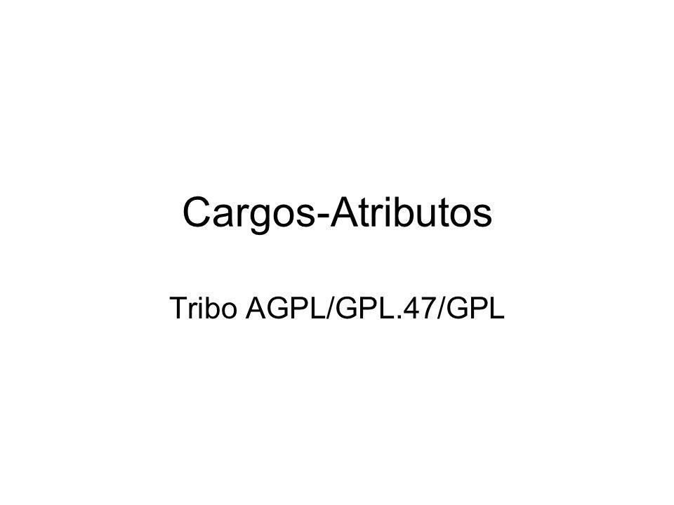 Cargos-Atributos Tribo AGPL/GPL.47/GPL