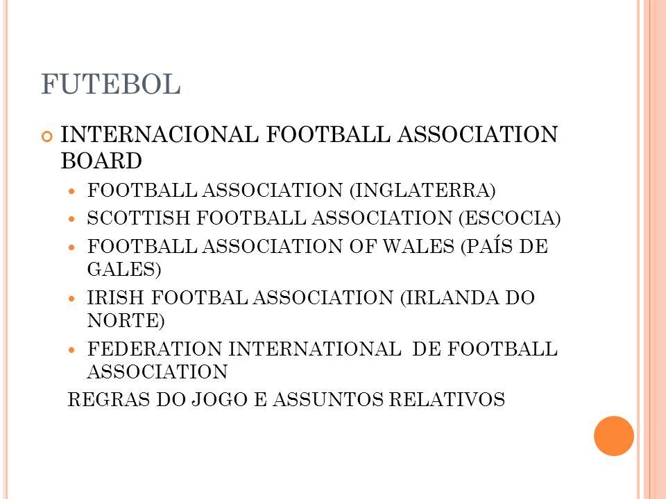 FUTEBOL INTERNACIONAL FOOTBALL ASSOCIATION BOARD FOOTBALL ASSOCIATION (INGLATERRA) SCOTTISH FOOTBALL ASSOCIATION (ESCOCIA) FOOTBALL ASSOCIATION OF WAL