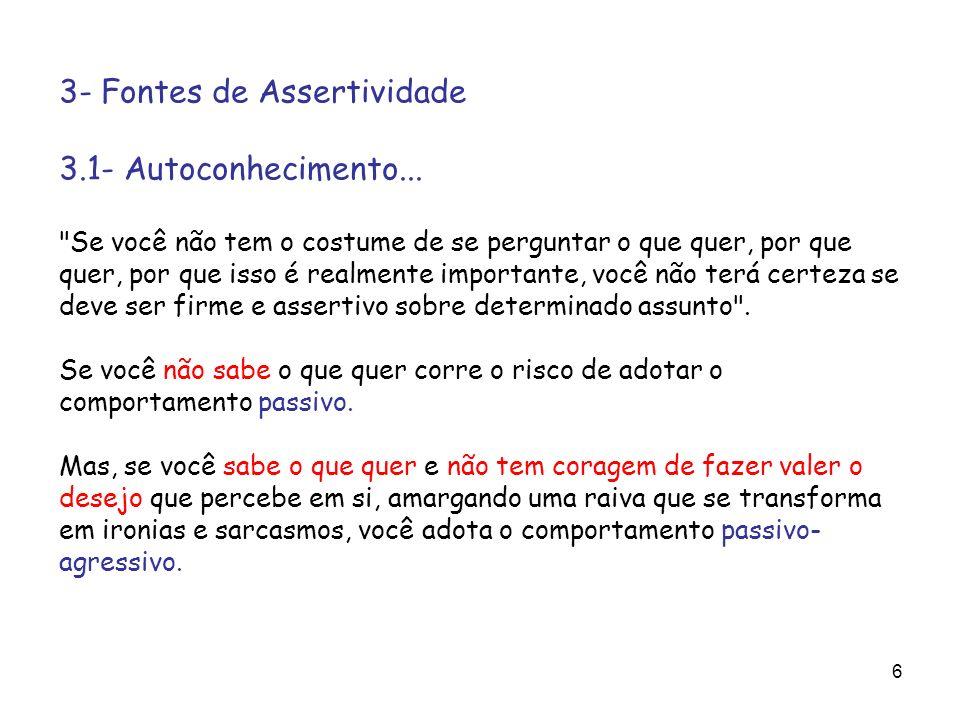 6 3- Fontes de Assertividade 3.1- Autoconhecimento...
