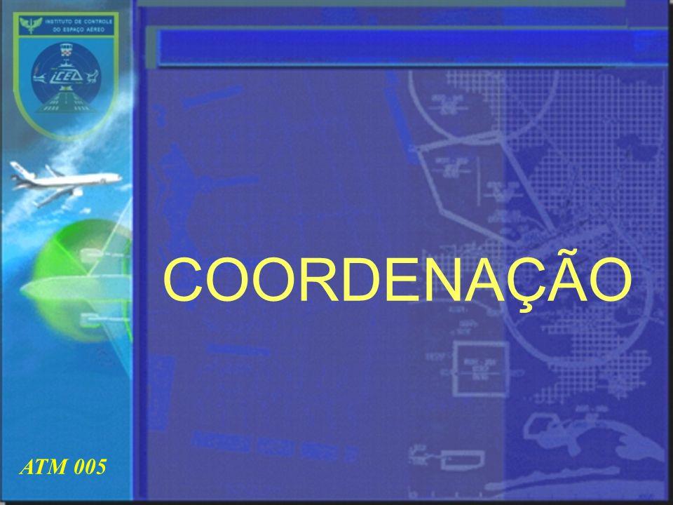 ATM 005 OBJETIVO ESPECÍFICO Demonstrar as Responsabilidades do Controle de Aeródromo (TWR) na Coordenação de Tráfego Aéreo (Cp)