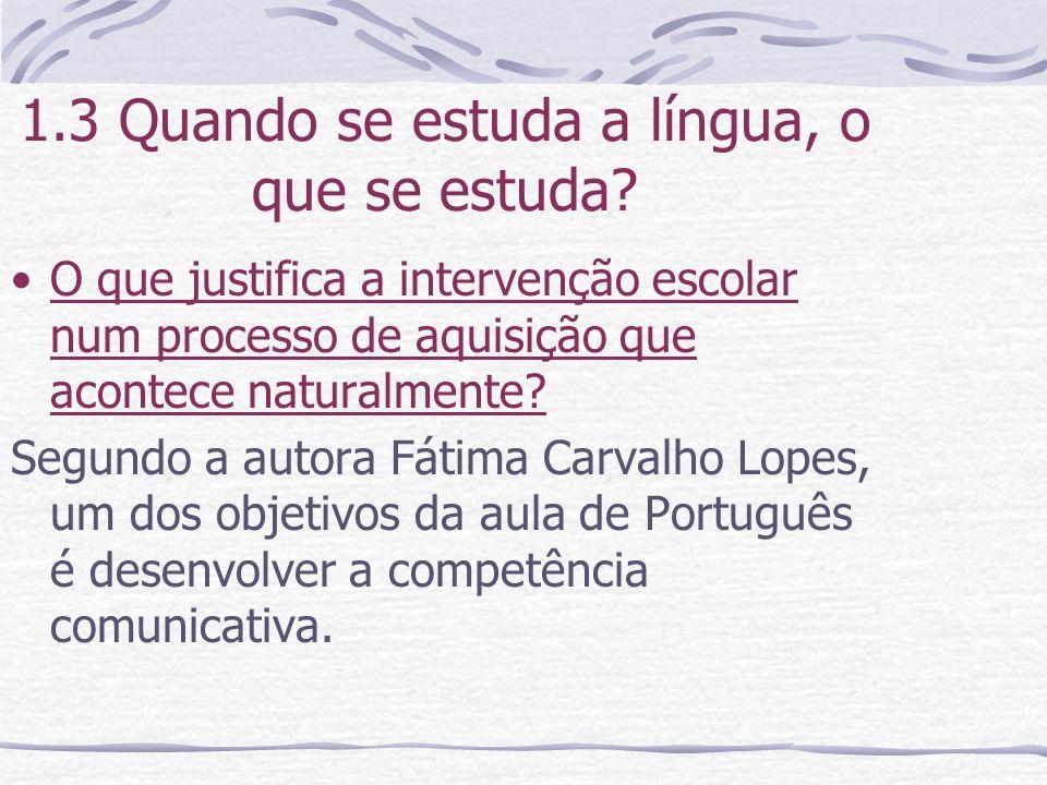 1.6 Noção de Sujeito e Subjetividade Para muitos autores, a reflexão sobre o funcionamento da língua em sociedade depende da noção de sujeito.