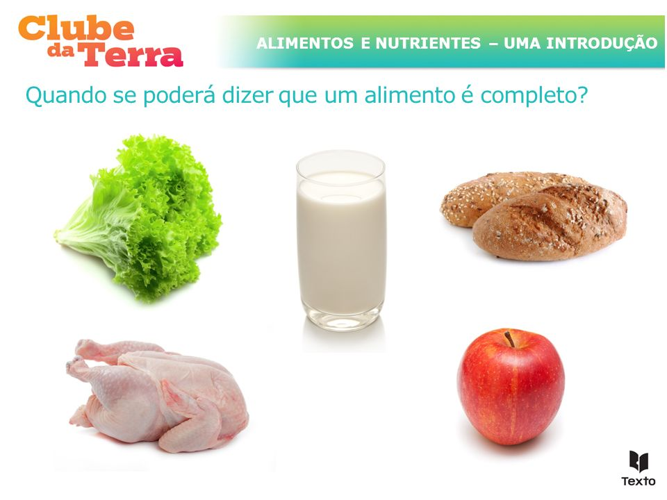 TÍTULO DO ASSUNTO A SER TRATADO NESTE POWERPOINT QUE TEM UM TÍTULO GRANDE ALIMENTOS E NUTRIENTES – UMA INTRODUÇÃO Quando se poderá dizer que um alimen