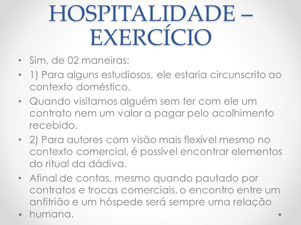 ESPAÇOS E TEMPOS DA HOSPITALIDADE