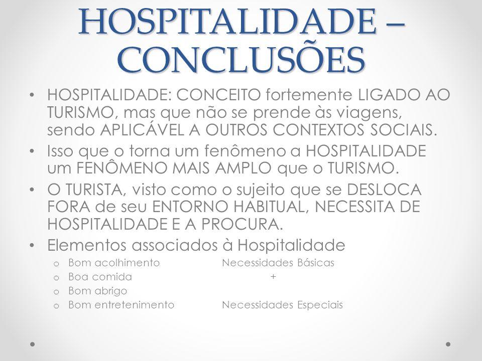 Hospitalidade - Reflexões NECESSIDADES ESPECIAIS VARIAM de pessoa para pessoa (CONCEITO SUBJETIVO).