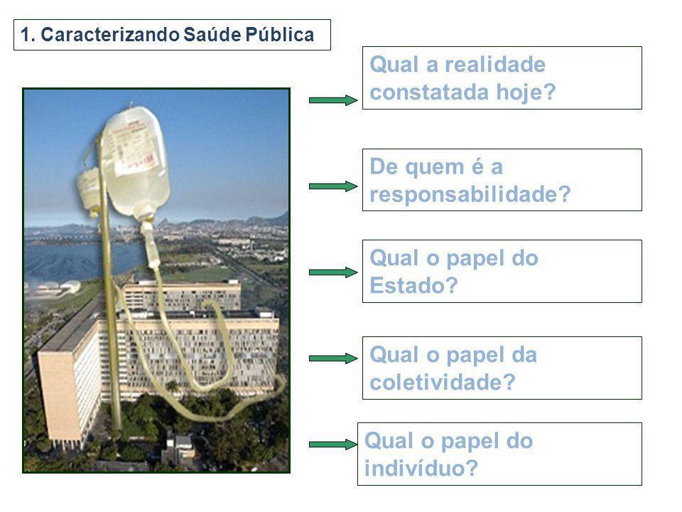 6.As cinco conotações da expressão saúde pública: