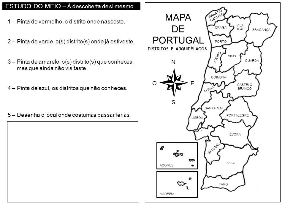 MAPA DE PORTUGAL AÇORES MADEIRA FARO BEJA SETÚBAL ÉVORA PORTALEGRE LISBOA SANTARÉM LEIRIA CASTELO BRANCO COIMBRA AVEIRO GUARDA VISEU BRAGANÇA VILA REA