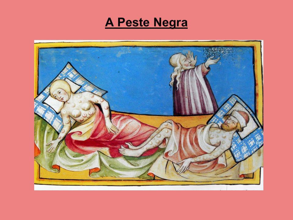 A peste negra durante o século XIV causou a morte de um terço da população.
